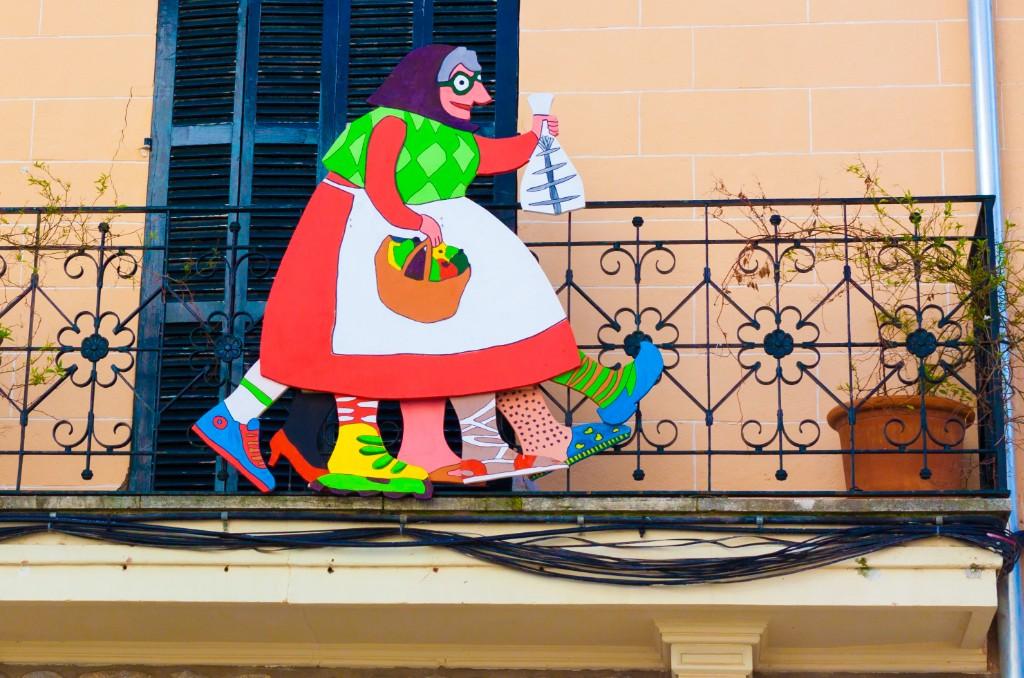 Jaia Corema, die Figur einer alten Dame, gehört zur traditionellen Fastenzeit, die am Karsamstag endet